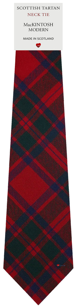 Mens All Wool Tie Woven Scotland - MacKintosh Modern Tartan