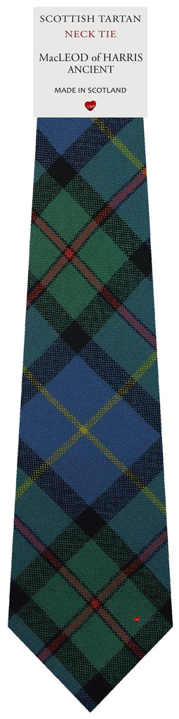 Mens All Wool Tie Woven Scotland - MacLeod of Harris Ancient Tartan