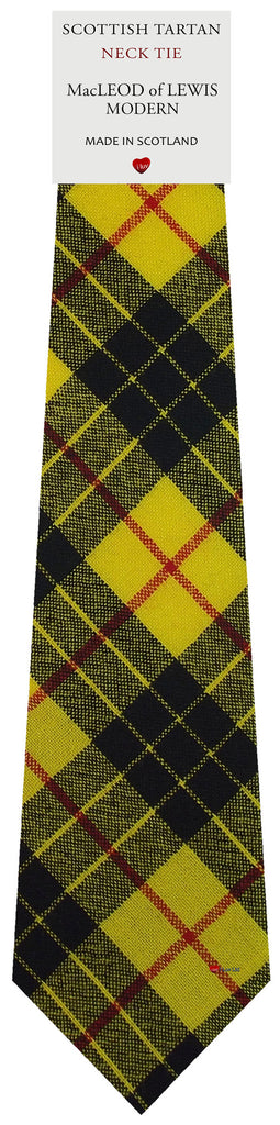 Mens All Wool Tie Woven Scotland - MacLeod of Lewis Modern Tartan