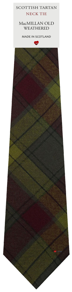 Mens All Wool Tie Woven Scotland - MacMillan Old Weathered Tartan