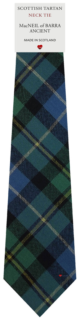 Mens All Wool Tie Woven Scotland - MacNeil of Barra Ancient Tartan