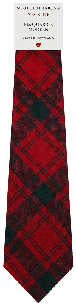Mens All Wool Tie Woven Scotland - MacQuarrie Modern Tartan