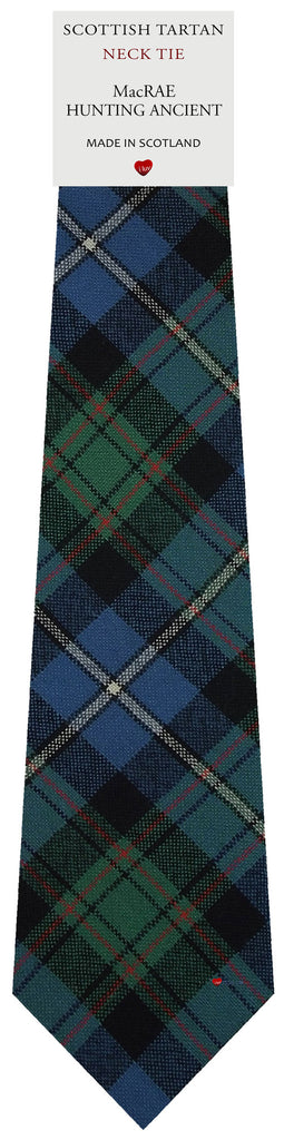Mens All Wool Tie Woven Scotland - MacRae Hunting Ancient Tartan