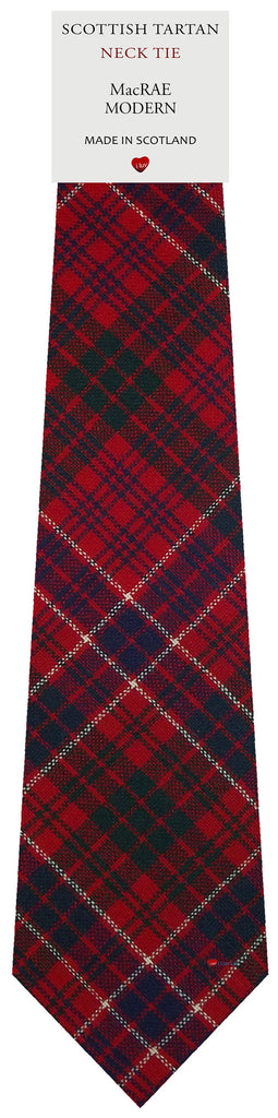 Mens All Wool Tie Woven Scotland - MacRae Modern Tartan