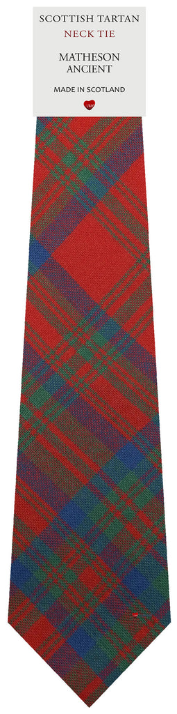 Mens All Wool Tie Woven Scotland - Matheson Ancient Tartan