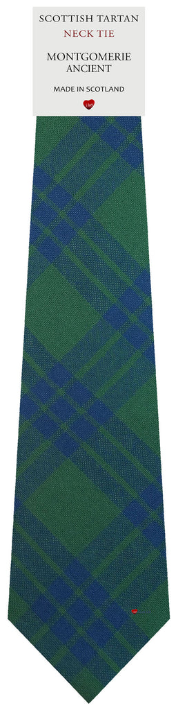 Mens All Wool Tie Woven Scotland - Montgomerie Ancient Tartan
