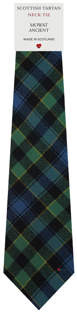 Mens All Wool Tie Woven Scotland - Mowat Ancient Tartan