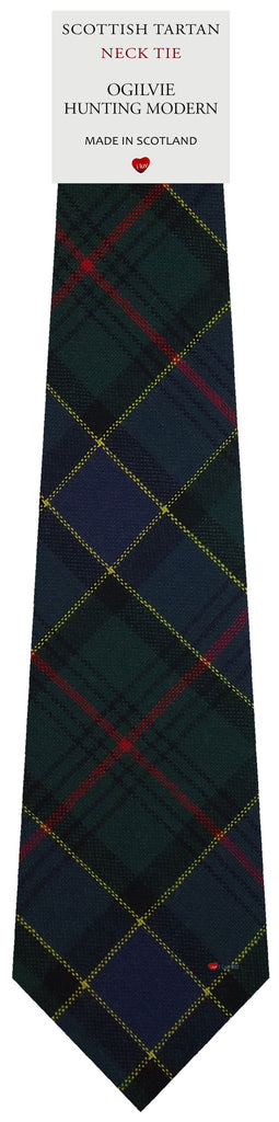 Mens All Wool Tie Woven Scotland - Ogilvie Hunting Modern Tartan