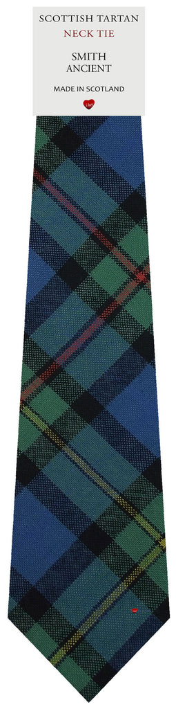 Mens All Wool Tie Woven Scotland - Smith Ancient Tartan