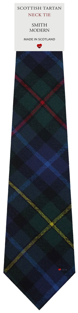 Mens All Wool Tie Woven Scotland - Smith Modern Tartan