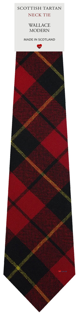 Mens All Wool Tie Woven Scotland - Wallace Modern Tartan
