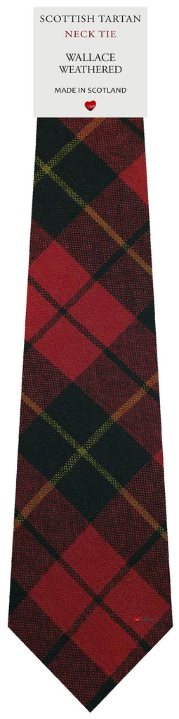 Mens All Wool Tie Woven Scotland - Wallace Weathered Tartan