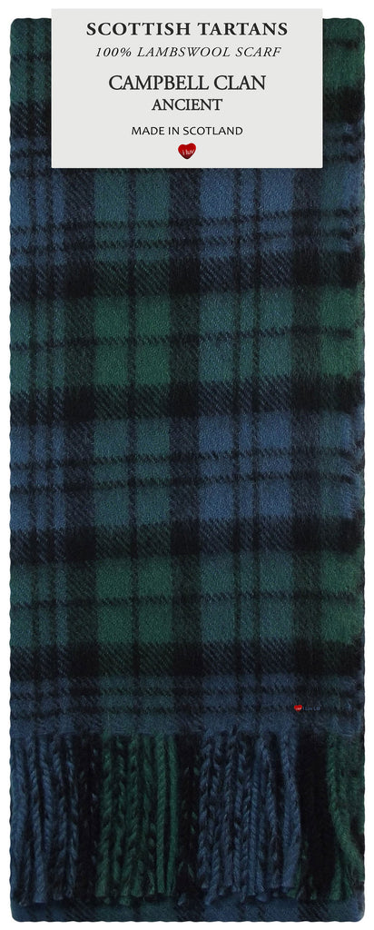 Campbell Clan Ancient Tartan 100% Lambswool Scarf