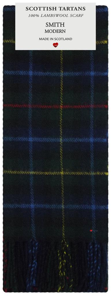 Smith Modern Tartan 100% Lambswool Scarf