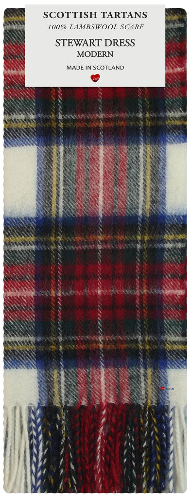Stewart Dress Modern Tartan 100% Lambswool Scarf
