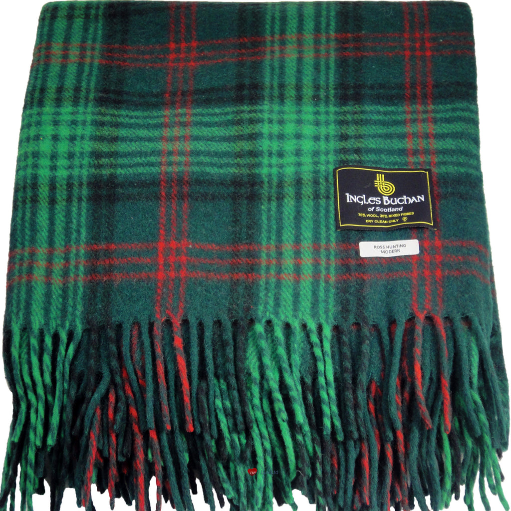 Blanket Wool Mix Blanket Ross Modern Hunting Tartan
