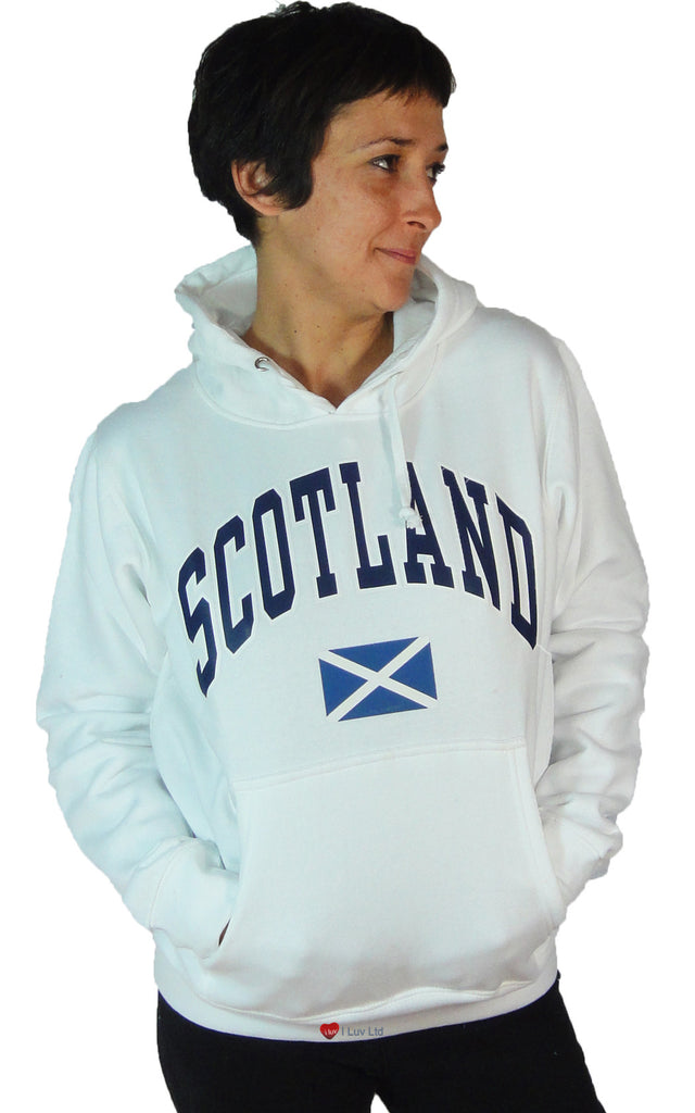 Womens Top Scotland Saltire White