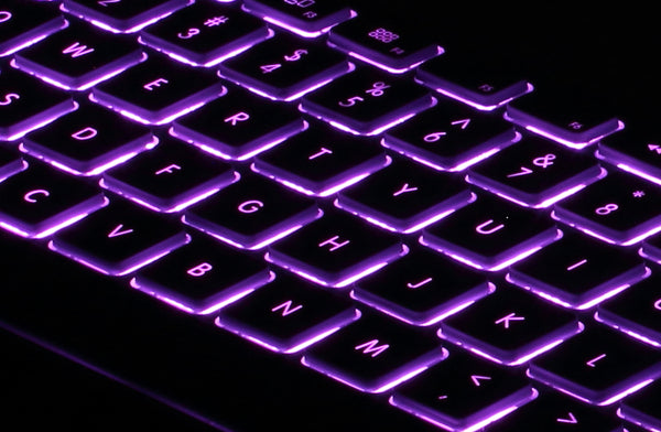 RGB Backlit Wired Aluminum Tenkeyless Keyboard for PC - Black