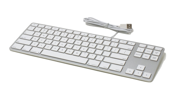 REFURBISHED Wired Aluminum Tenkeyless Keyboard for Mac - Silver