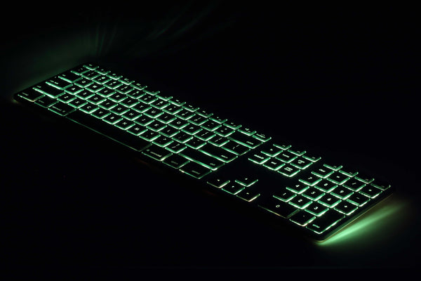 RGB Backlit Wired Aluminum Keyboard for Mac - Space Gray