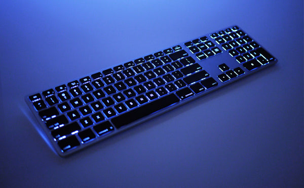 Backlit Wireless Aluminum Keyboard - Space Gray