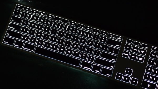 Backlit Wireless Aluminum Keyboard - Silver/Black