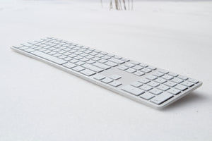 REFURBISHED Backlit Wireless Aluminum Keyboard - White