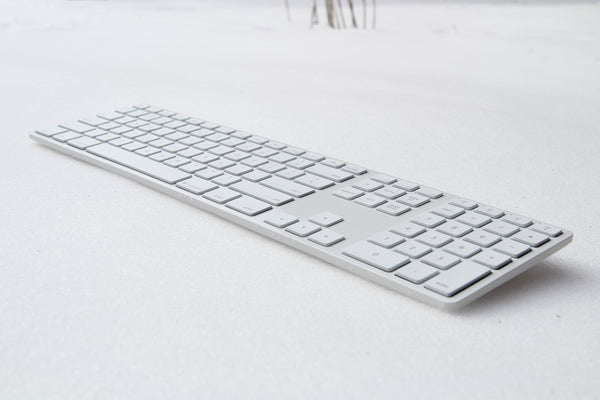 Backlit Wireless Aluminum Keyboard - White (Special Edition)