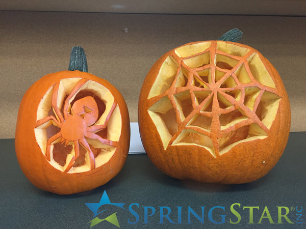 Carved Pumpkins of Spider and web