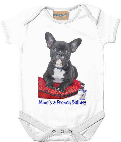 Larkwood Baby Bodysuit Mine's a French Bulldog - The Dog Demands, [product_dog accessories]