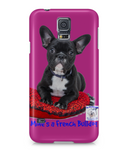 Samsung Galaxy S5 Full Wrap Case Mine's a French Bulldog - The Dog Demands, [product_dog accessories]