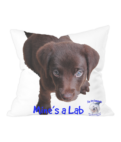 Throw Cushion Mine's a Lab - The Dog Demands, [product_dog accessories]