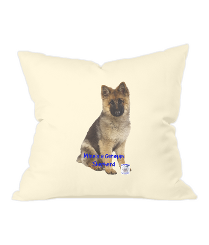 Westford Mill Fairtrade Cotton Canvas Cushion Cover Mine's a German Shepherd - The Dog Demands, [product_dog accessories]