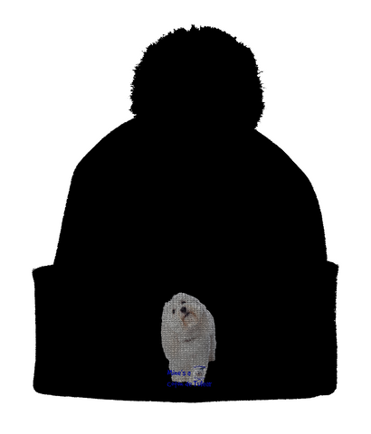 Pom Pom Beanie Mine's a Coton de Tulear - The Dog Demands, [product_dog accessories]