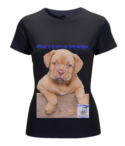 N02 Women's Classic Fitted T-Shirt Mine's a Dog de Bordeaux - The Dog Demands, [product_dog accessories]