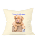 Westford Mill Fairtrade Cotton Canvas Cushion Cover Mine's a Dog de Bordeaux - The Dog Demands, [product_dog accessories]