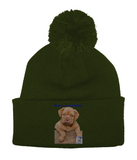 Pom Pom Beanie Mine's a Dog de Bordeaux - The Dog Demands, [product_dog accessories]