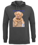 N50P Unisex Pullover Hoodie with Side Pockets Mine's a Dog de Bordeaux - The Dog Demands, [product_dog accessories]