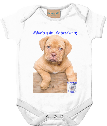 Larkwood Baby Bodysuit Mine's a Dog de Bordeaux - The Dog Demands, [product_dog accessories]