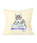 Westford Mill Fairtrade Cotton Canvas Cushion Cover Mine's a Husky - The Dog Demands, [product_dog accessories]