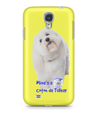 Samsung Galaxy S4 Full Wrap Case Mine's a Coton de Tulear - The Dog Demands, [product_dog accessories]