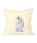 Westford Mill Fairtrade Cotton Canvas Cushion Cover Mine's a Coton de Tulear - The Dog Demands, [product_dog accessories]