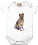 Larkwood Baby Bodysuit Mine's a German Shepherd - The Dog Demands, [product_dog accessories]