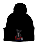 Pom Pom Beanie Mine's a French Bulldog - The Dog Demands, [product_dog accessories]