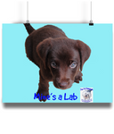 Landscape Poster Mine's a Lab - The Dog Demands, [product_dog accessories]