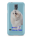 Samsung Galaxy S5 Full Wrap Case Mine's a Coton de Tulear - The Dog Demands, [product_dog accessories]