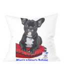 Throw Cushion Mine's a French Bulldog - The Dog Demands, [product_dog accessories]