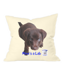 Westford Mill Fairtrade Cotton Canvas Cushion Cover Mine's a Lab - The Dog Demands, [product_dog accessories]