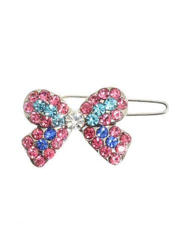 Mini Ribbon Swarovski Hair Clip / Dog Barrette – Pink, Green and Blue - The Dog Demands, [product_dog accessories]