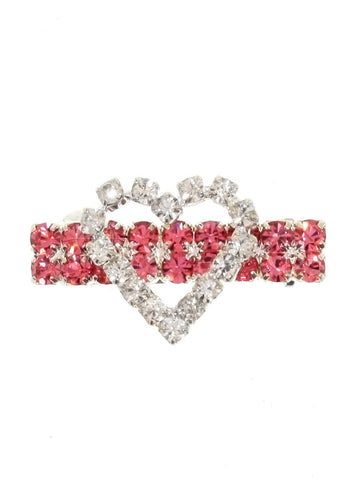 Heart Dog Swarovski Hair Clip / Dog Barrette – Clear and Pink - The Dog Demands, [product_dog accessories]